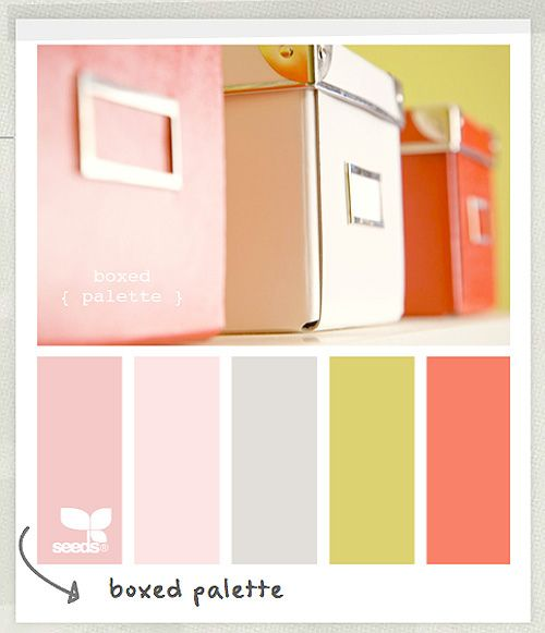 Girly, fresh and inspiring – perfect for a child's playroom or a crafting space for mom: Boxed Palette.