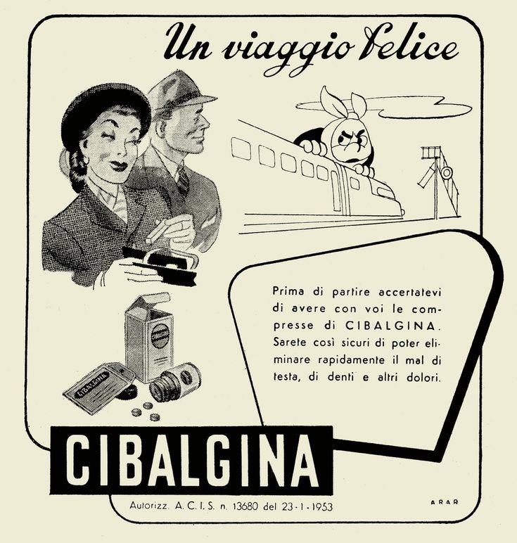 CIBALGINA. Pubblicità degli anni '50. #TuscanyAgriturismoGiratola