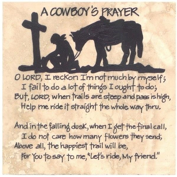 Lets Ride Quotes: Cowboys, Prayer And