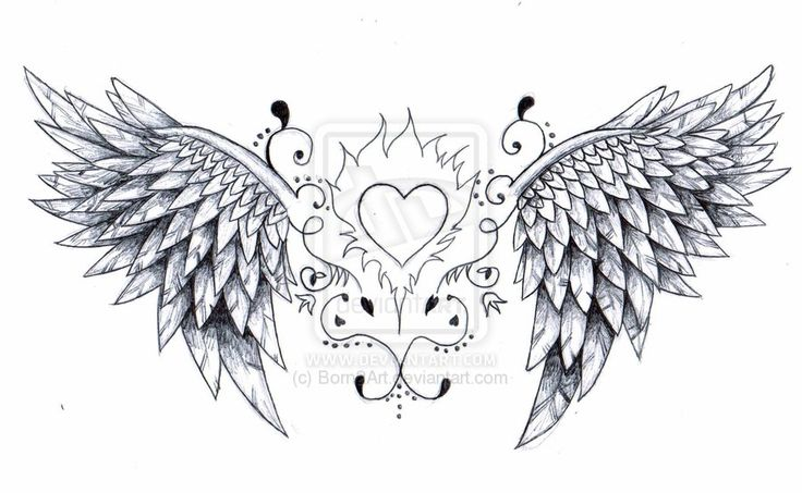 heart with angel wings tattoos designs ideas | Tattoo Designs