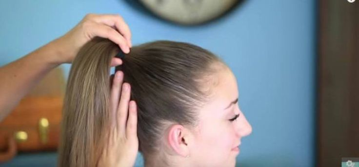 How to Turn a Ponytail into a Fan Bun