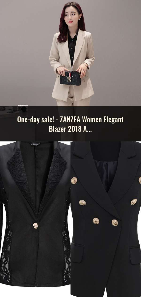 5e940e5c0ad5 ZANZEA Women Elegant Blazer 2018 Autumn Sheer Lace Floral Coat Patchwork Jacket  Femininas Slim Formal OL Style Plus Size Blazers