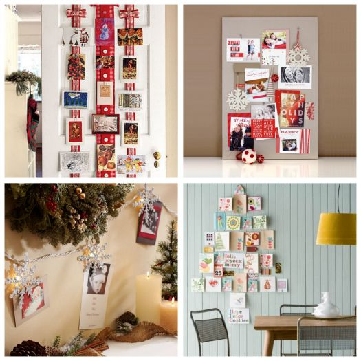 Holiday card display: