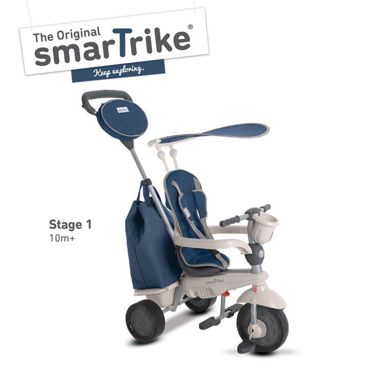 Trojkolka Voyage Touch Steering 4v1 je tou dokonalou trojkolkou pre vaše dieťa, ktorá svojou funkčnosťou očarí určite aj vás ako rodičov. Trojkolka smarTrike rastie spolu s dieťaťom od 10 do 36 mesiacov.