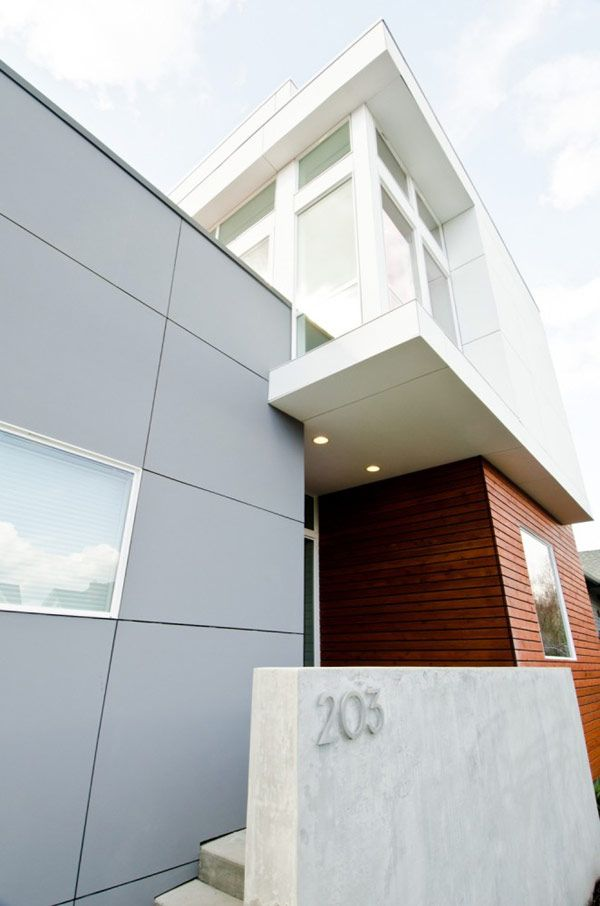 Architectural, View The Wall Box As Well As The Wall Angled Of Exterior Fashionable Residence: Charming Massive Two-Level Family Residence i...