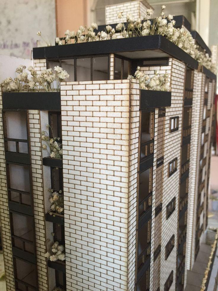 """Maqueta Esc 1:75 Entrega """"Diseño Arquitectónico de vivienda multifamiliar en el barrio la ceiba, Cùcuta"""" Con Yanelly R-J  en Convenio Constructora Gamboa&Ramirez Arq e Ing Ltda y UFPS Cùcuta"""