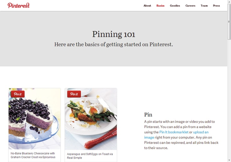 Pinning 101  -- Here are the basics of getting started on Pinterest.