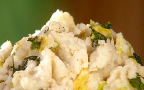 Colcannon (Irish potato salad) Recipe by Paula Deen