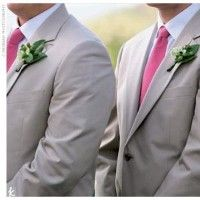 pink{ties} grey{suits}