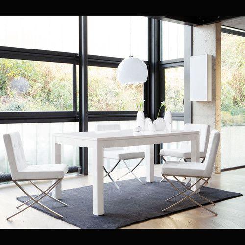 Mesa de comedor blanca lacada an 160 cm pure mesas for Mesa comedor blanca lacada