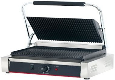 From Hakka the commercial professional restaurant grade panini press grill and sandwich is one of the leading products on the market. It comes with many features from a floating hinge to detachable griddle pieces making it ideal to clean after use. H