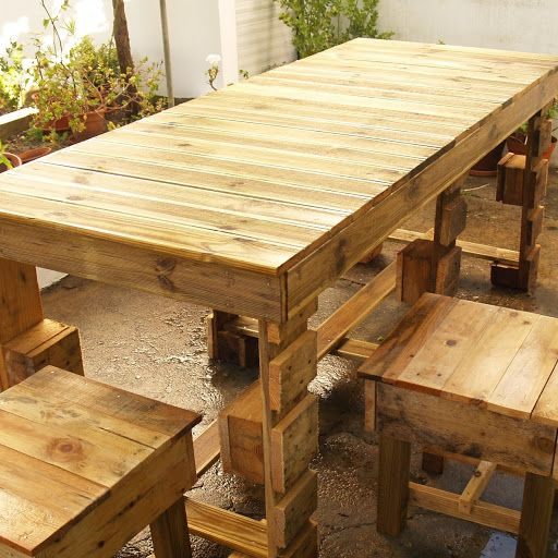 Mesa em Paletes recicladas