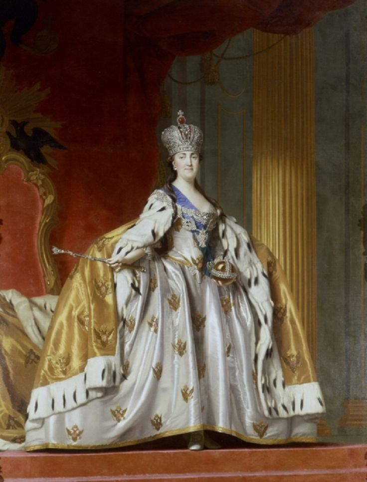 Catherine the Great in her Coronation gown.