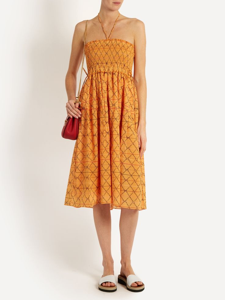 Nueva Nambe smocked-cotton dress | APIECE APART | MATCHESFASHION.COM US
