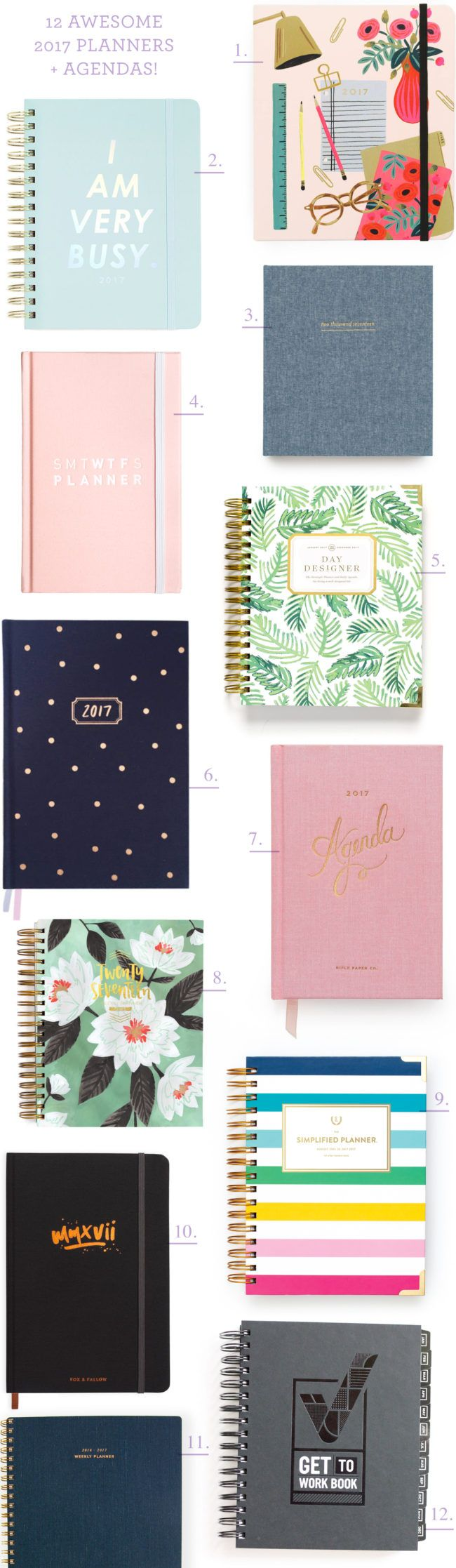 Twelve Awesome 2017 Planners and Agendas