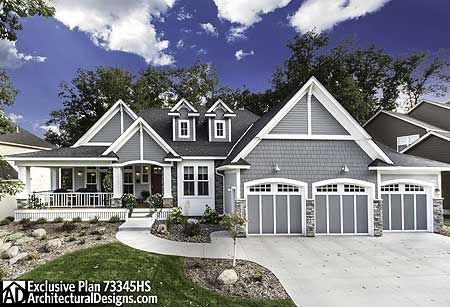 Plan 73345hs 3 bed storybook house plan 3 car garage for Storybook craftsman house plans