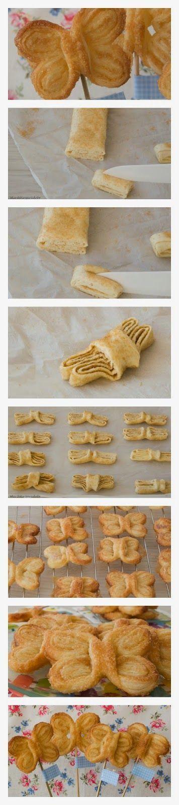 Francuskie ciasteczka - motylki - Pokazujemy jak je zrobić...