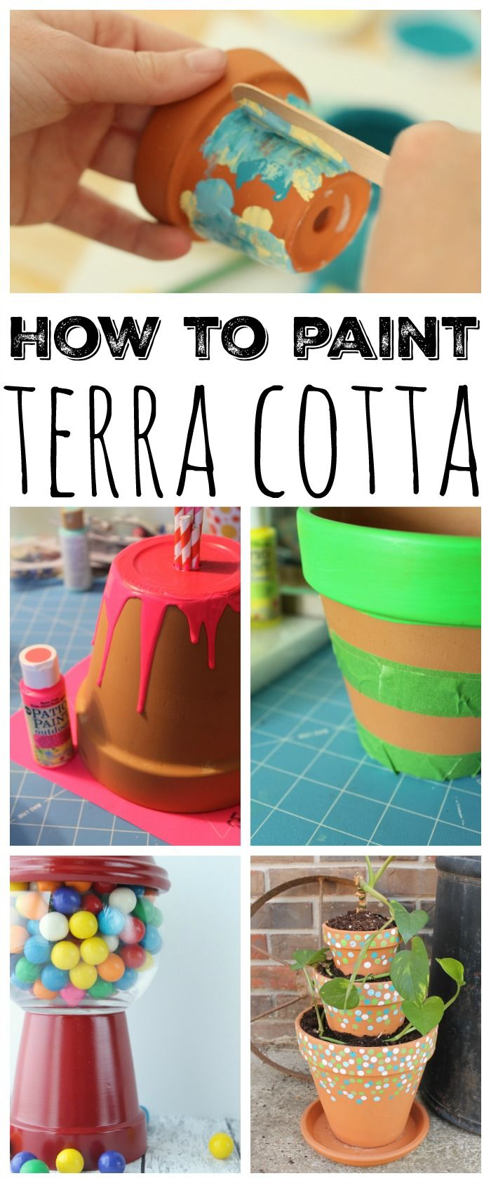 How To Paint Terra Cotta Bake Craft Sew Decorate Clay