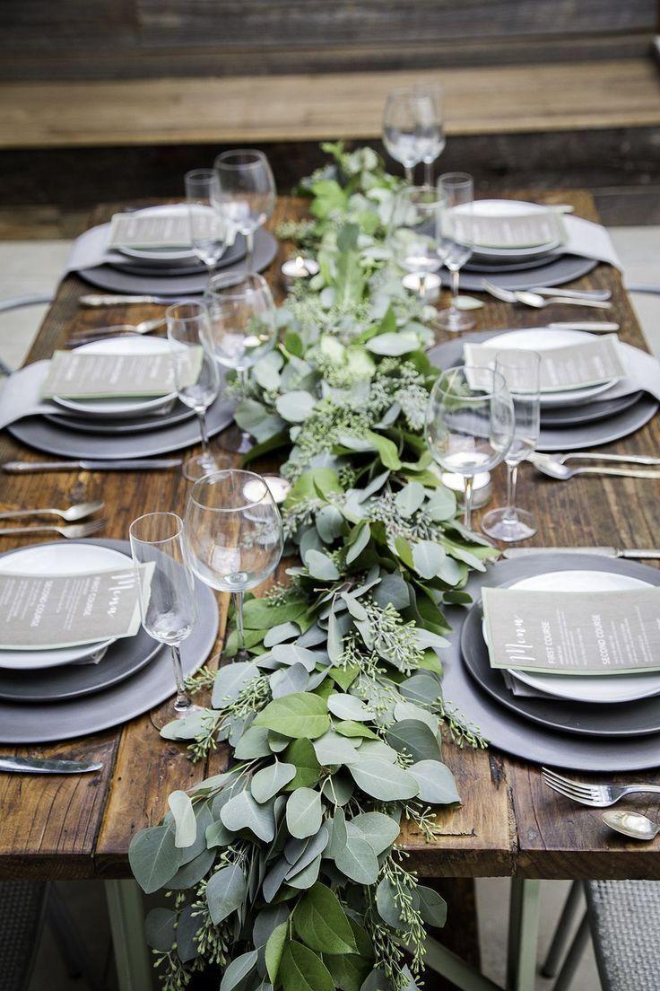 Eucalyptus Garland Wedding Centerpiece