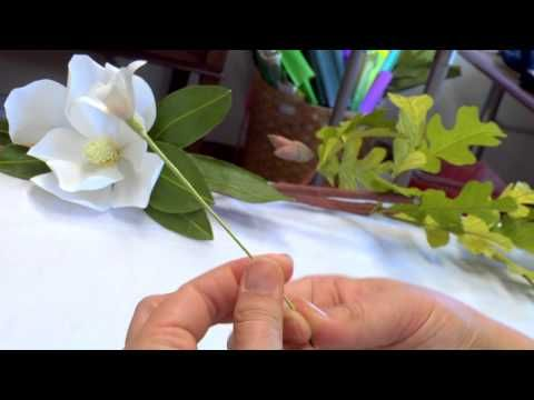 Waxed Orange Blossom Crepe Paper Crown - YouTube A Castle in the Air video tutorial by Lynn Dolan.