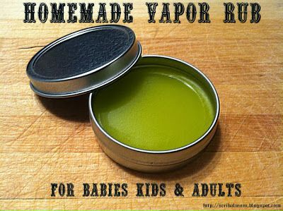 Easy Homemade Vapor Rub Recipe (for babies, kids and adults)!