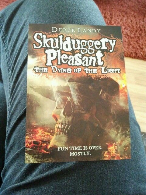 A card from the last book in the Skulduggery Pleasant series.