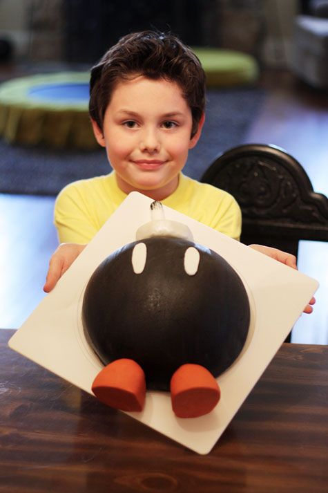 It was fun to stumble across this on Pinterest. It's Alex's Bob-omb Super Mario cake I made a couple of years ago. Such a fun cake!