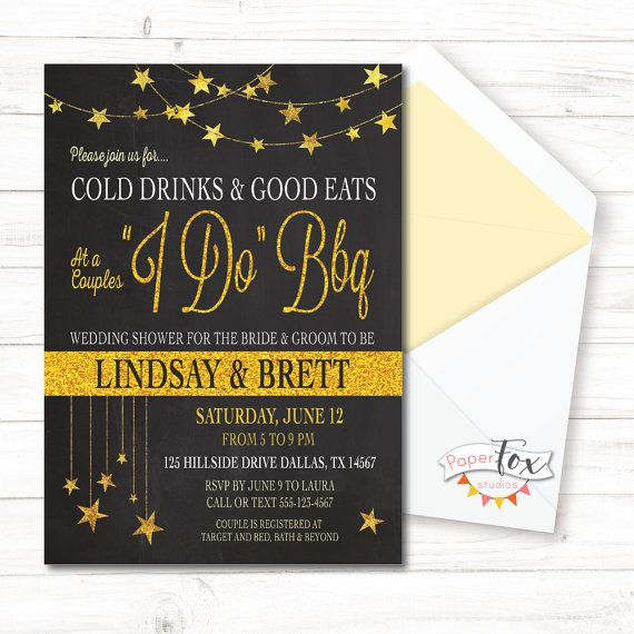 I Do BBQ Invitation / I Do bbq Shower by PaperFoxStudios on Etsy