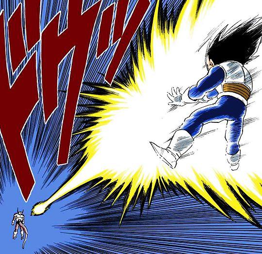 "dragonballzforlife: "" Vegeta and Trunks turning Super Saiyan. """