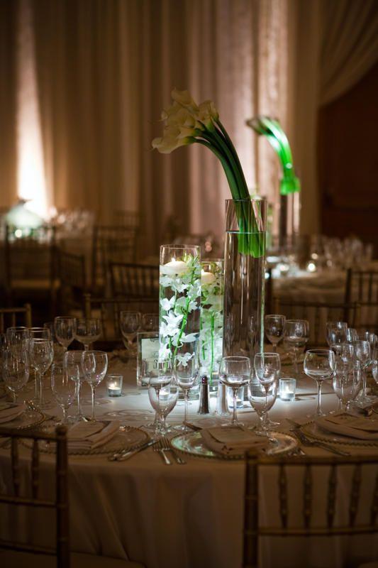 Simple Elegant Calla Lily Wedding Centerpieces Weddings Florist