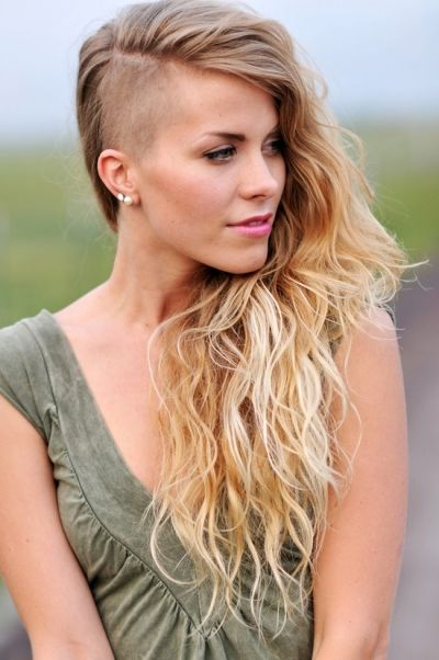 true-Women seem to be getting a lot more bold and at ease with taking of some length or shaving part of their hair off. There is nothing sexier than a confident women who knows how to express themselves through fashion and various hairstyles.
