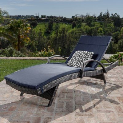 Lenahan Traditional Chaise Lounge with Cushion Color: Navy Blue - http://delanico.com/chaise-lounges/lenahan-traditional-chaise-lounge-with-cushion-color-navy-blue-734605797/