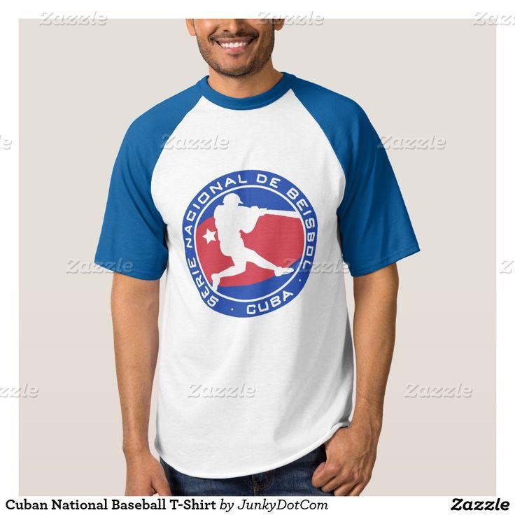 Camiseta equipo nacional cubano de béisbol, remera. Baseball, Cuba. Deporte, sport. Producto disponible en tienda Zazzle. Vestuario, moda. Product available in Zazzle store. Fashion wardrobe. Regalos, Gifts. Beisbol. Baseball. Trendy tshirt. #camiseta #tshirt #cuba #beisbol #baseball