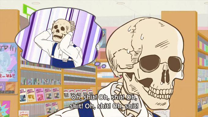 skull-face bookseller honda-san anime disponible en crunchyroll