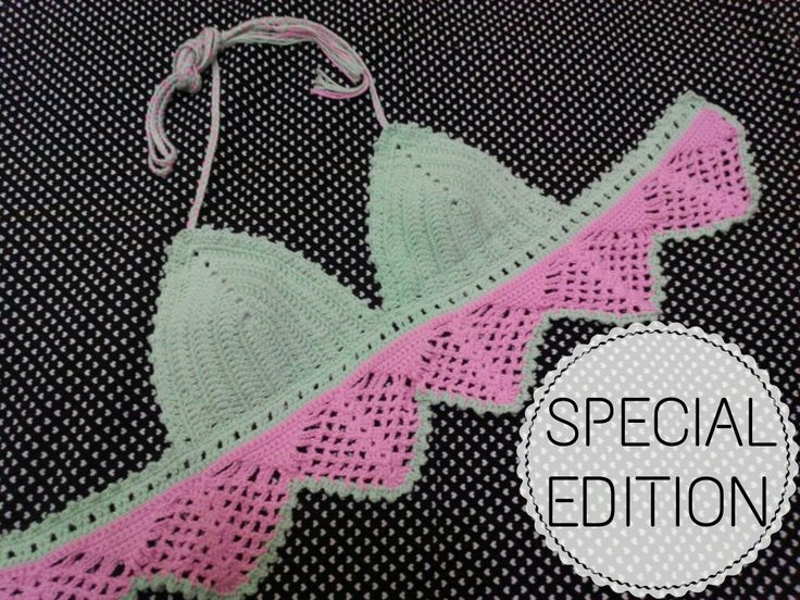 SPECIAL • SPECIAL • SPECIAL • Cutie Bikini (Bra Only) • Made by Order ( only 1 pc ) • Fit 34 • Color : Soft Green + Pink • With Crochet Project • For details, price & order please contact bio Color request made by order  • #megawe #megaweproject #megawecraft #craft #handmade #handcraft #crochet #crochetaddict #crochetideas #crochetlove #crochetproject #crochetofinstagram #colorideas #bikini #bikinicrochet #megawecatalogue #loveit #specialedition