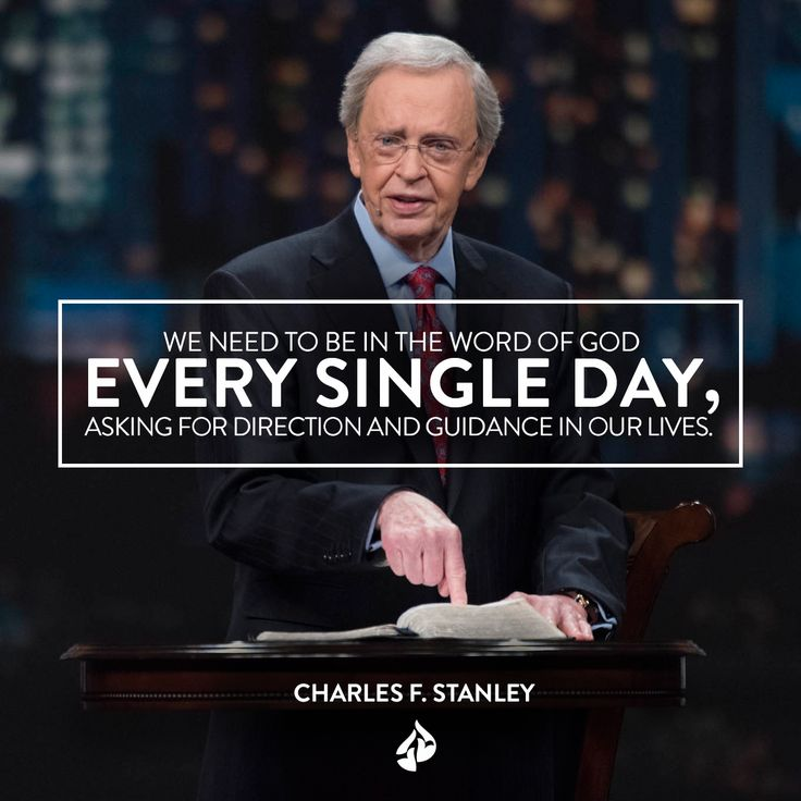 """""""We need to be in the eternal Word of God every single day, asking for direction and guidance in our lives."""" - Dr. Charles Stanley. Watch his message """"Trembling at God's Word"""" at intouch.org/watch."""