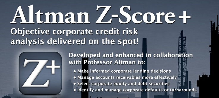 Altman Z-Score+ for corporate credit risk analysis.