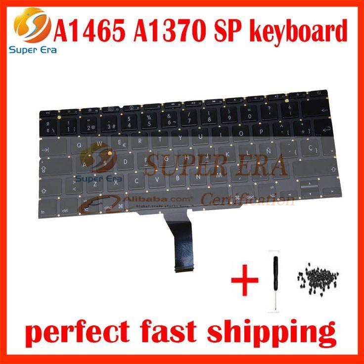 "5Pcs/Lot Original Spanish Keyboard For Macbook Air 11"" A1370 A1465 MC505 MC506 MC968 MC969 SP Keyboard without backlight backlit #Affiliate"