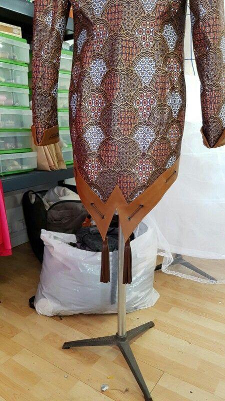 Wazal couture 2016/2017  Matières wax et cuir d'agneau  Inspiré d'une sébago docksides