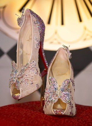 Christian Louboutin's Cinderella Slippers. Wouldn't it be fun to wear these just one time in your life?