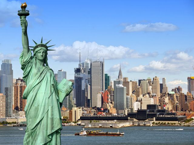 Amazing Photos from Around the Net: Statue of Liberty with New York City in the backgr...