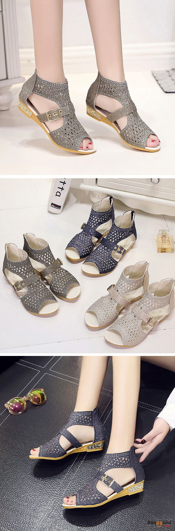 US$20.89 + Free shipping. Size(US): 5~9. Color: Black, Gold, Beige. Upper Material: PU. Fall in love with casual style! Summer Sandals, Women Flat Sandals, shoes flats, shoes sandals, Casual, Outdoor, Comfortable.