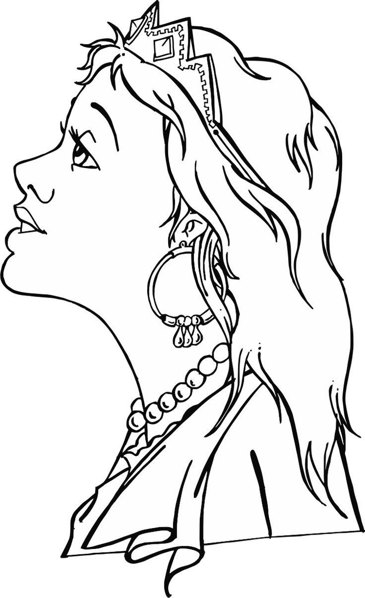 Printable coloring pages of queen esther - Printable Masks For Queen Esther Lesson Ester_regina_36 Gif 751 1231 This Can Be Used With The Bible
