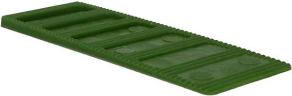 Interlocking Tapered Wedge 1-3mm Green - fixings - wedges and packers - Interlocking Tapered Wedge 1-3mm Green - Timber, Tool and Hardware Merchants established in 1933