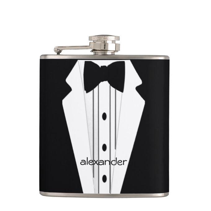 Wedding Tuxedo-Grooms Hip Flasks