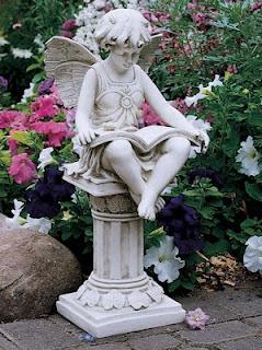 Design Toscano The British Reading Fairy Garden Statue   Lost In A World Of  Fantasy. The Design Toscano The British Reading Fairy Garden Statue Is Sure  To ...