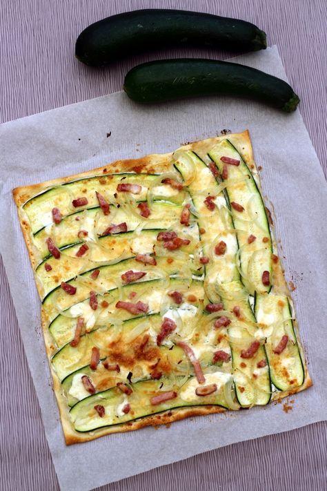 Tarte flambée aux courgettes et parmesan