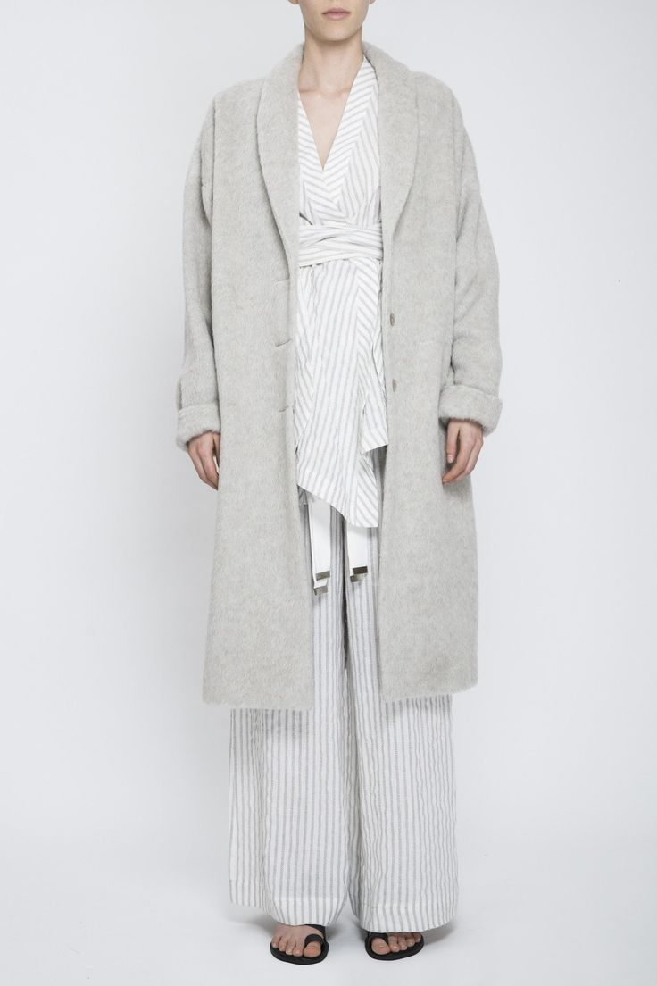 Acler - Newick Coat Feather Grey