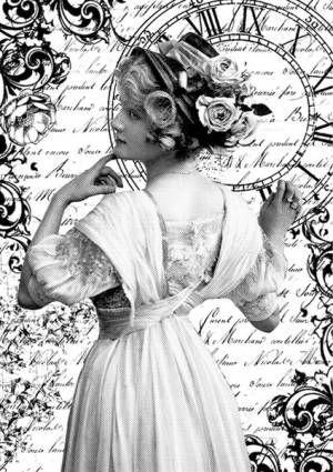 Бумага рисовая Stamperia А4 Романтичная женщина