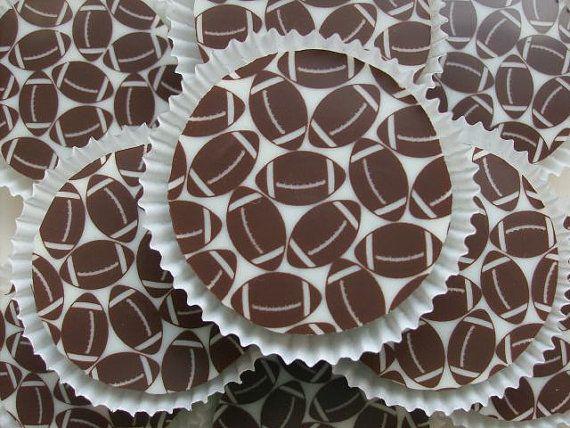 1 Doz FOOTBALL Designer Chocolate Covered Oreos NFL Superbowl Father's Day
